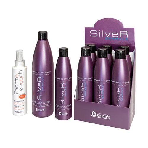 THERMO SMOOTH - speciale piastra SILVER SPARKLE - shampoo antigiallo - BIACRE'